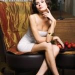 Woman in the luxurios interior — Stock Photo #1433672
