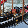 Venetian gondolas at the berth. — Stock Photo