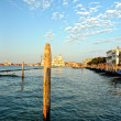 Cityscape of Venice. wharf — Stock Photo