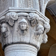 Top of the column in Doge's Palace, — Stock Photo