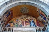 Mosaic at the entrance of the Cathedral of St. Mark in Venice. — Stock Photo