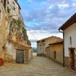 Streets of the small old town Ares in Spain. — Stock Photo