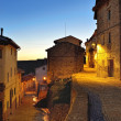 Streets of the old town Ares in Spain. Evening time. — Stock Photo