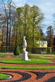 Jesień krajobraz katarzyna park w puszkina, — Zdjęcie stockowe