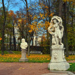 Autumn landscape Catherine park in Pushkin, — Stock Photo