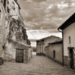 Stock Photo: Streets of the small town. Ares in Spain.
