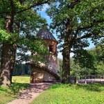 Summer landscape of the Pavlovsk garden, Pil-Tower pavilion. — Stock Photo #31582879