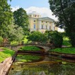 Stock Photo: Summer landscape of Pavlovsk garden, Russia. View to pal