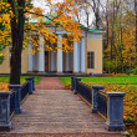 """paisagem com pavilhão """"concert hall"""" em pushkin — Foto Stock #32120827"""