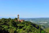 Landscape with monastery Montserrat in Spain. — Stock Photo