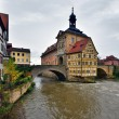 Famous half-timbered house in Bamberg, Germany. — Foto Stock