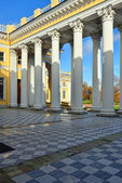 Ccolonnade of Alexander palace in Pushkin, — Stock Photo