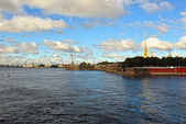 Fortness of St. Peter and Pavel and river Neva in St-Petersburg, — Stock Photo