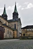 Medieval cathedral St. Jakobs in Bamberg, — Stock Photo