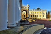 The exterior of Alexander palace in Pushkin, — Stock Photo
