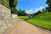 Landscape in Gatchina garden. — Stock Photo