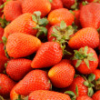 Fresh strawberries background — Stock Photo