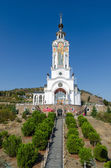 Temple-Lighthouse St. Nicholas of Myra in the village Malorechen — Stock Photo
