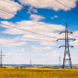Power lines in the field — Stock Photo #49042859