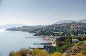Coast near Alushta. Malorechenskoe. — Stock Photo