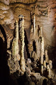 Stalagmites. Cave Emine Bair Khosar in Crimea. — Stockfoto