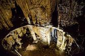 Stalagnates. emine bayırı khosar kırım mağara. — Stockfoto