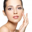Beauty face of young woman. Skin care concept. — Stock Photo #14404051