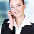 Cute telephone operator — Stock Photo #1461583