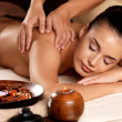 Woman having massage in the spa salon — Stock Photo #14994011