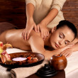 Woman having massage in the spa salon — Stock Photo #14994019
