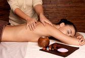 Woman having massage in the spa salon — Stock Photo
