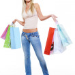Happy woman after shopping — Stock Photo #1512994