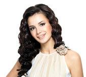 Foto de mujer joven con el pelo largo de belleza. — Foto de Stock