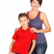Happy young mother with son — Stock Photo #16233439