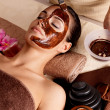 Spa therapy for woman receiving cosmetic mask — Stock Photo #16233707