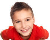 Adorable young happy boy — Stock Photo