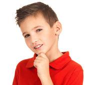 Face of adorable young boy — Stock Photo