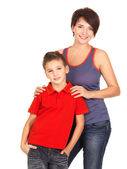 Happy young mother with son — Stock Photo