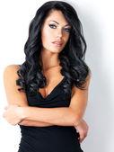 Retrato de mujer hermosa con el pelo largo — Foto de Stock