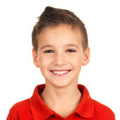 Portrait of adorable young happy boy — Stockfoto