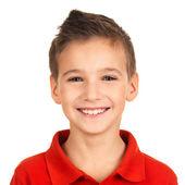 Porträtt av bedårande ung glad pojke — Stockfoto