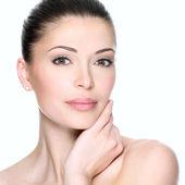 Dospělé ženy s krásnou tváří — Stock fotografie
