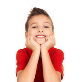 快乐的小男孩 — 图库照片