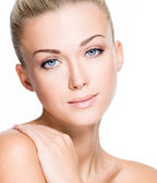 Beautiful woman with beauty face - isolated — Stock Photo