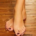 ������, ������: Female feet at spa salon on pedicure procedure