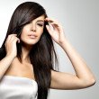 Постер, плакат: Woman with beauty long straight hair