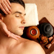 Man having head massage in the spa salon — Stock Photo #21859153