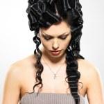 Beautiful woman with fashion hairstyle — Stock Photo #23981847