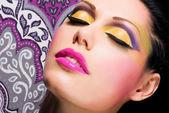 ファッション化粧と女性の美しい顔 — ストック写真