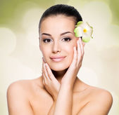 Woman with healthy skin face — Stock Photo